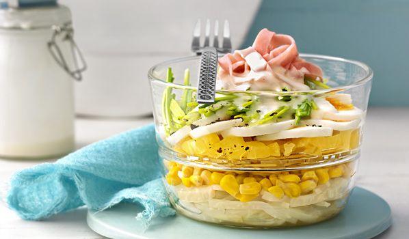 Schichtsalat mit Mais