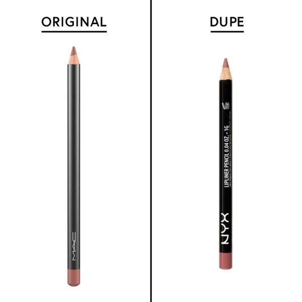 MAC Lip Liner in Spice - Dupe: NYX Slim Liner in Natural