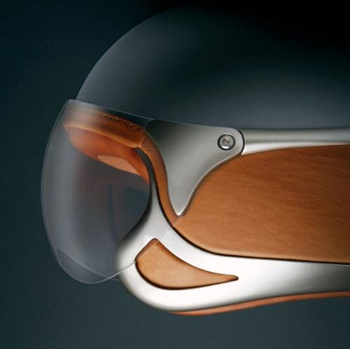 Grey, leather brown, metal.  Vinaccia Integral Design Studio.