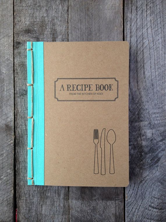 A unique book for your recipes. Measuring 6 x 8.5 this awesome recipe book is handmade with recycled heavy kraft stock and is filled with 50- 24lb