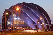 """Glasgow's Clyde Auditorium was designed by Sir Norman Foster, and is affectionately known as the """"Armadillo"""""""
