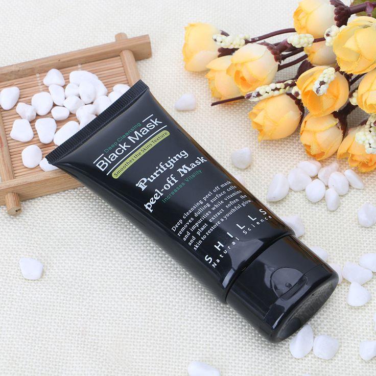 50g negro Máscaras De Carbón Activado Mascarilla Peel-off Barro Negro salud para Remover La Espinilla Quitar Tiras de Poro de La Piel y Limpia Pur