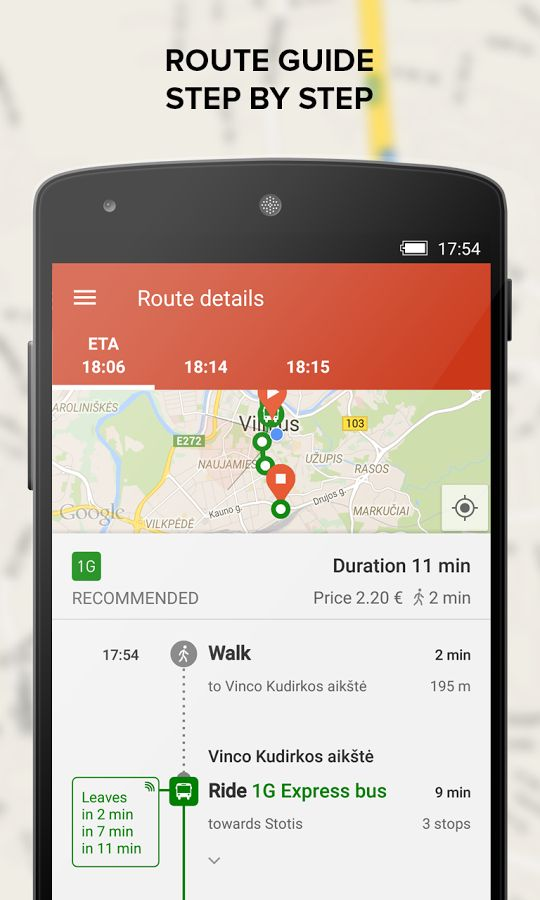 TRAFI real time public transit - screenshot