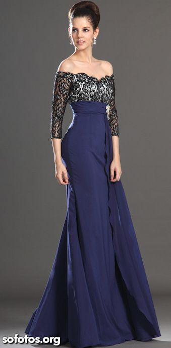 Vestido de festa azul                                                                                                                                                                                 Más