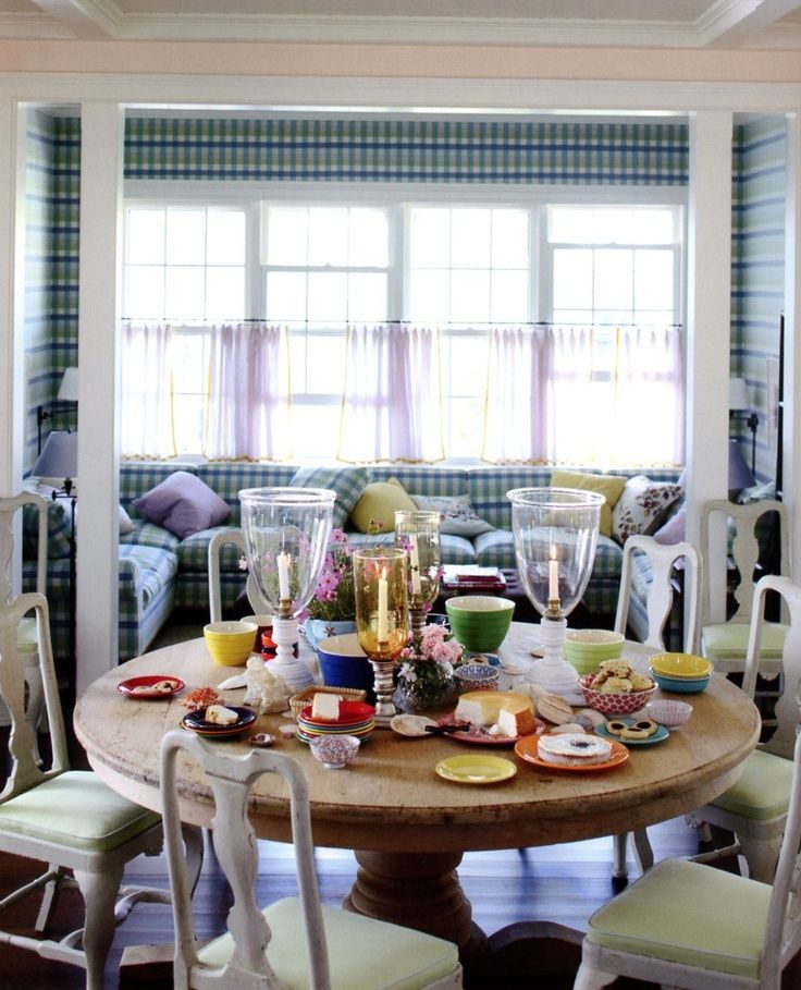 Painted Queen Anne And Gingham House InteriorsSwedish InteriorsDining FurnitureDining ChairsTable