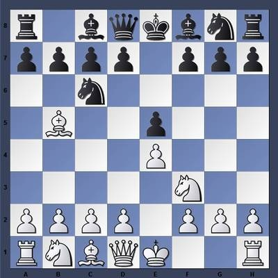 """The Ruy Lopez, Starting Position: Above is the starting position of one of the most popular openings in chess, the Ruy Lopez. This position is reached by playing the moves 1. e4 e5 2. Nf3 Nc6 3. Bb5. From here, there are a number of possible variations."""" #chess"""