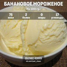 Бананово-кефирное мороженое Ингредиенты: 300 г обезжиренного кефира 40 г меда 2 спелых и мягких банана Приготовление: 1. Очищаем банан от кожуры, выкладываем его в кастрюлю. Нужно раздавить банан аккуратно вилкой, чтобы его было легко измельчить миксером или блендером. 2. В блендере смешиваем раздавленный банан, мед и выливаем кефир туда. Десерт не требует добавления сахара и является очень полезным продуктом, особенно на завтрак. 3. Чтобы было удобно его резать на кусочки, выливаем…