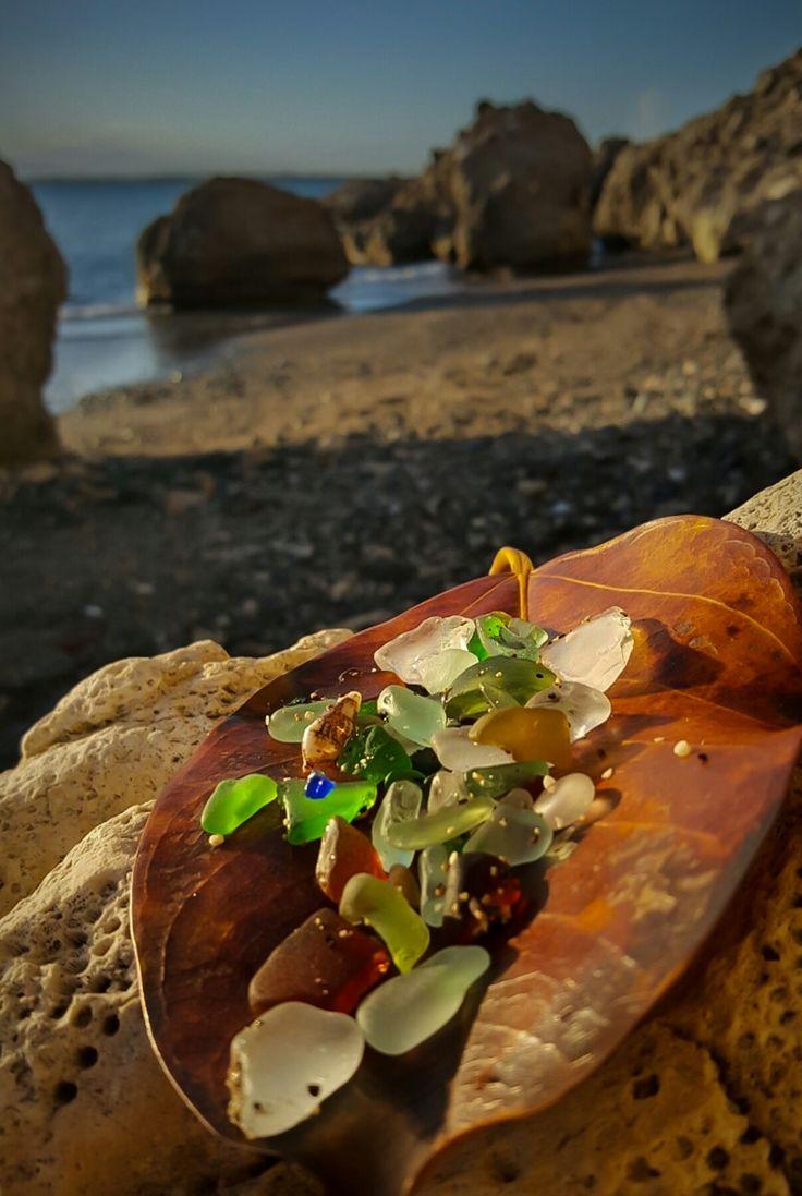 Sea glass and the Beach. Guantanamo Bay, Cuba