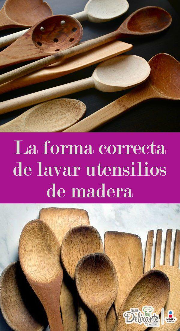 como lavar utensilios de madera | CocinaDelirante