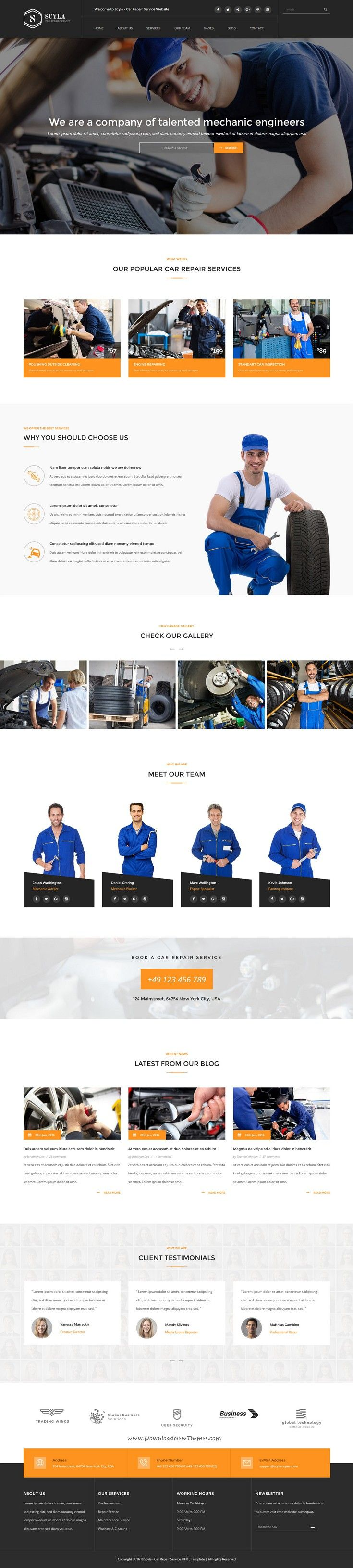 Scyla is fantastic bootstrap Template for Auto #Mechanic and #Car Repair #website. Download Now!