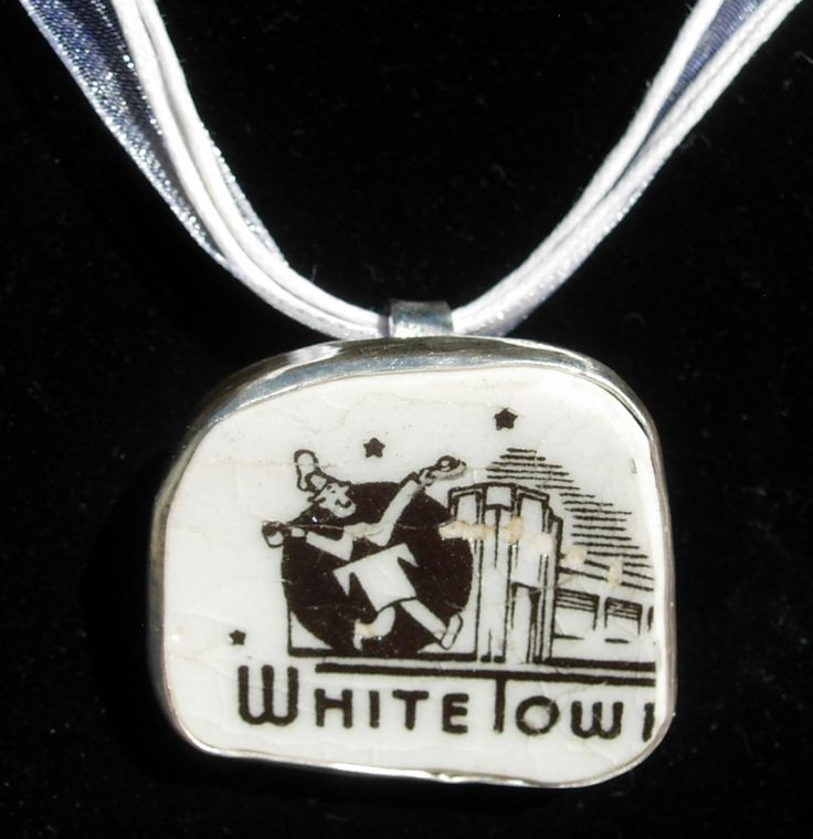 Broken China Pendant ~ White Tower Restaurant ~ Carr China by ReddygalsRoundup on Etsy https://www.etsy.com/listing/493556373/broken-china-pendant-white-tower