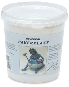 Use Paverplast with Paverpol to create a sculpting paste that airdries to a weathertight finish for outdoor birdbaths, fountains and pools