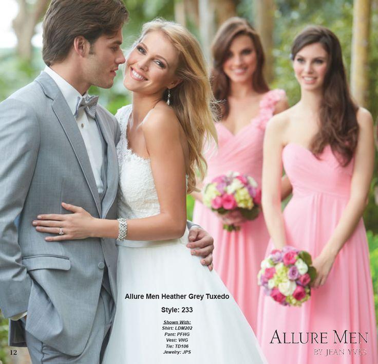 Allure Men Heather Grey Tuxedo