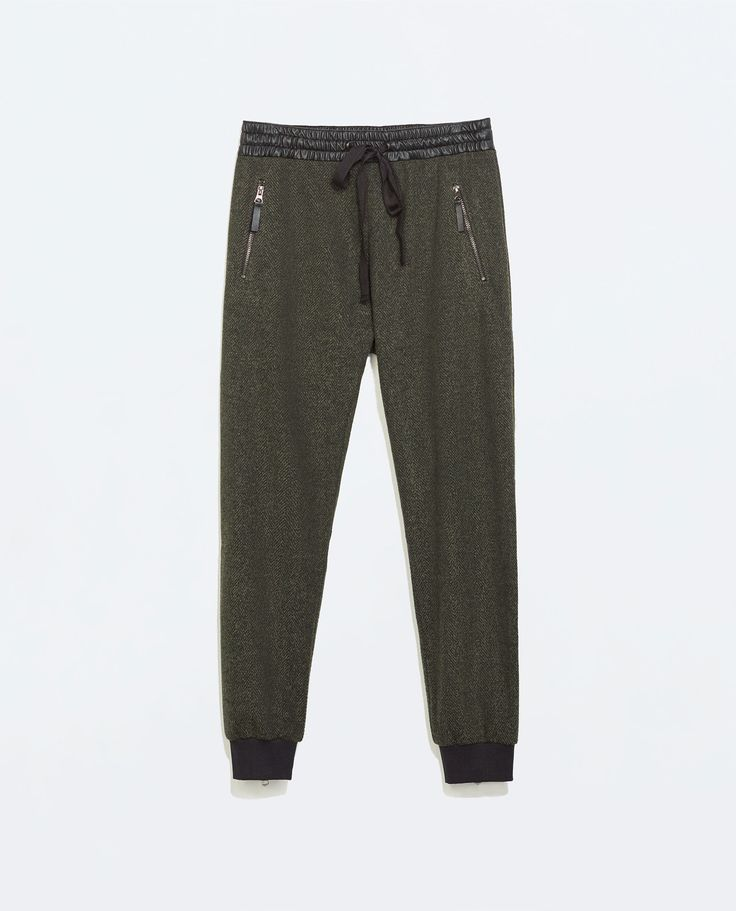 ZIP WAIST SWEATPANTS from Zara