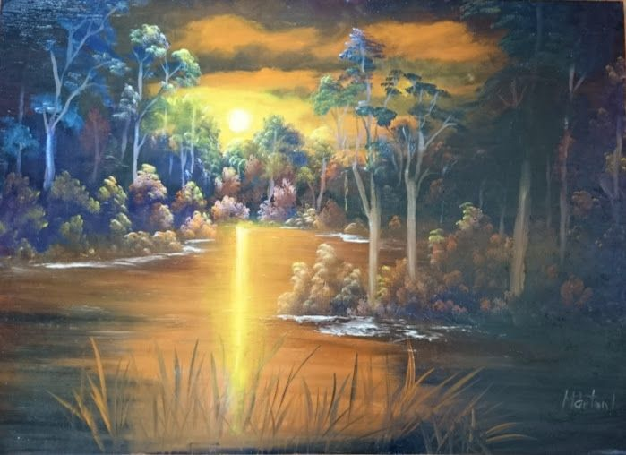 Tájkép, 50 x 70 ,oil painting