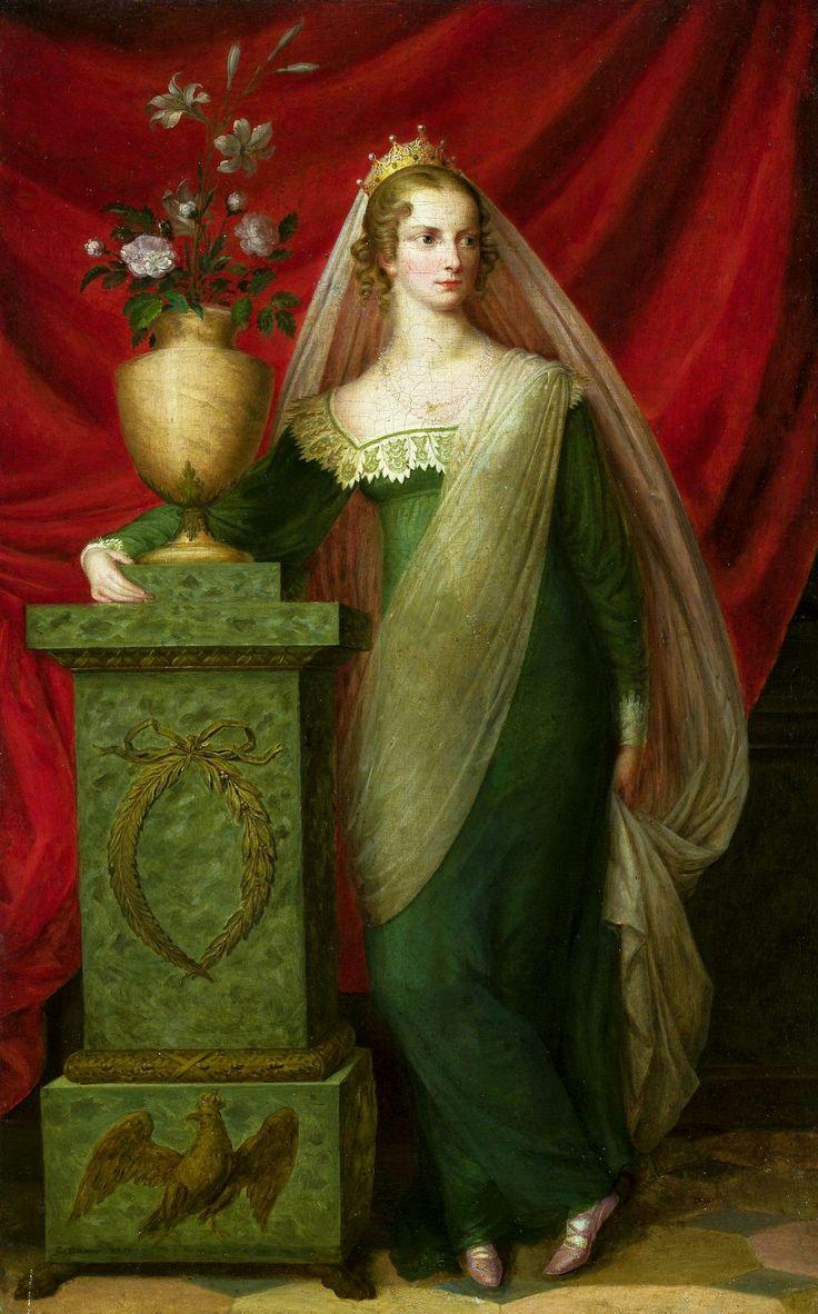 Portrait of Princess Charlotte of Prussia (1798-1860) by Ernst Gebauer, ca. 1817 (PD-art/old), Muzeum Narodowe w Warszawie (MNW)