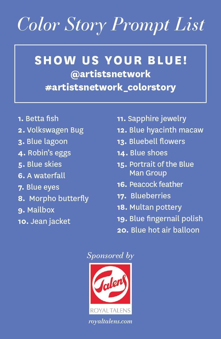 Color crimson on pinterest style guides painted - Try This Fun Art Prompt Show Us Your Blue Use A Blue Color Palette To Create Your Next Masterpiece Or Photograph Your Blue Inspiration Not On This List