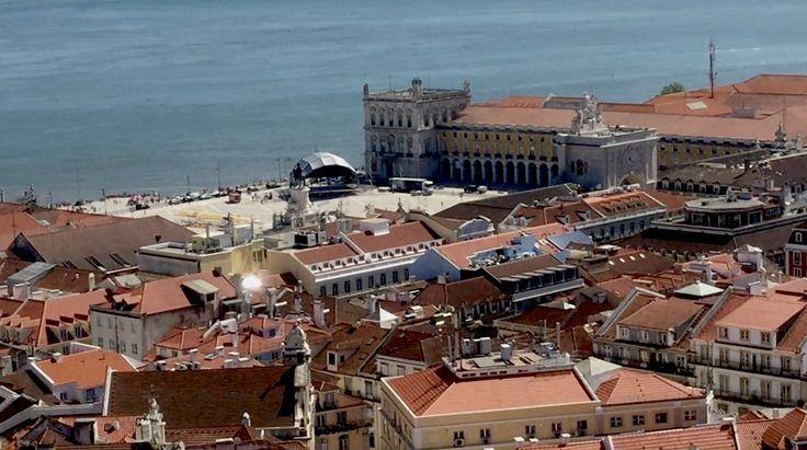 """Lisbona, piazza del Commercio - (durante le riprese di """"Vaidade / Vanità"""", un cortometraggio di QUEM quintelemento)"""