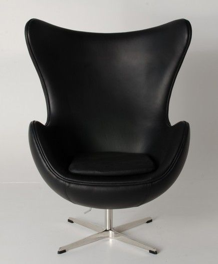 Black Replica Egg Chair - Milano Republic
