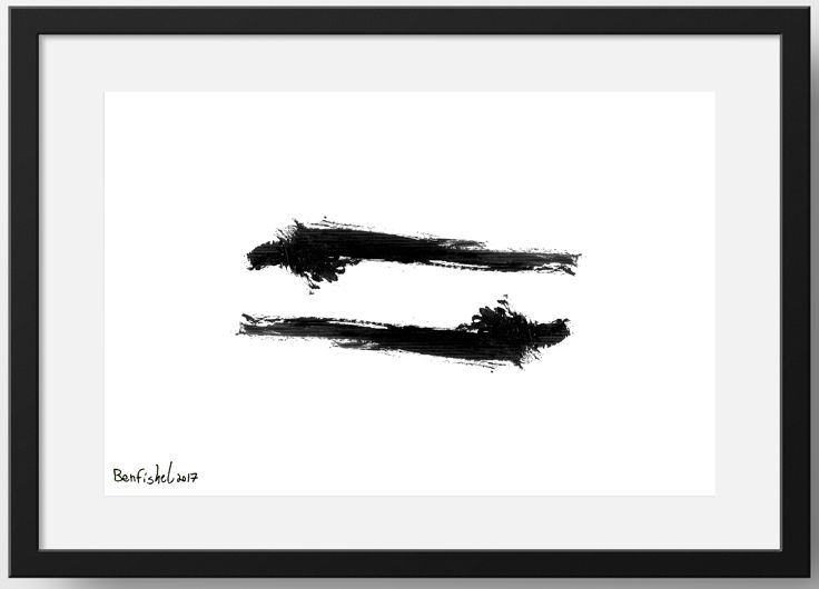 "High quality original framed black & white print titled - ""Yin Yang"", abstract free form. This print is a part of a series called - ""Untitled Project""  This white & black print is delivered framed, ready to hang."