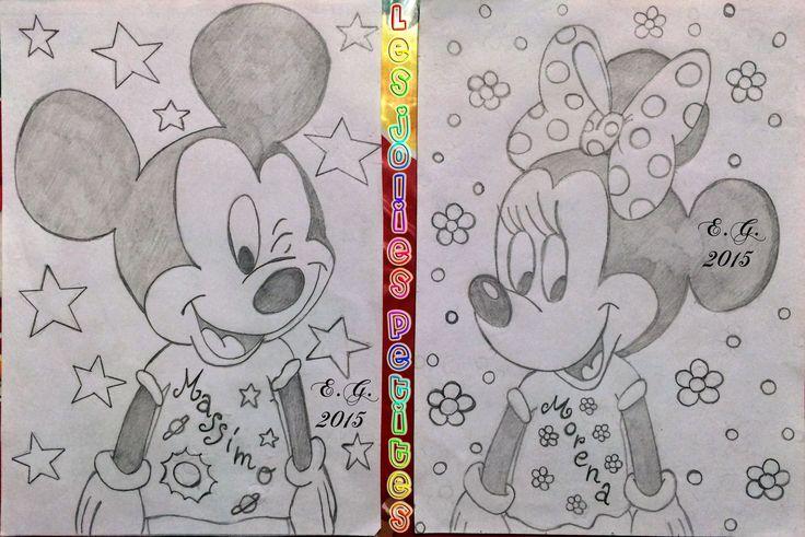 #Minnie #Topolino #Morena #Massimo #disegno #drawing #MickeyMouse #matita #staedtler #fabriano #lesjoliespetites