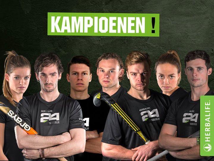Dutch Sponsored Athletes - Champions Lidewij, Robert, Jelle, Bob, Mink, Maartje en Sander - Dutch Champions with their clubs Oranje Zwart & HC Den Bosch.