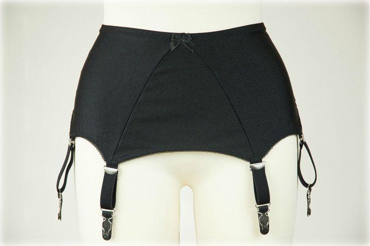 Black Wide High waist Suspender Belt Retro Style White Garter Belt with 6 straps - size XS-4XL by CocosRetroCloset on Etsy https://www.etsy.com/listing/177995586/black-wide-high-waist-suspender-belt