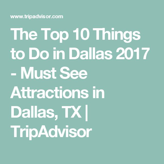 The Top 10 Things to Do in Dallas 2017 - Must See Attractions in Dallas, TX   TripAdvisor
