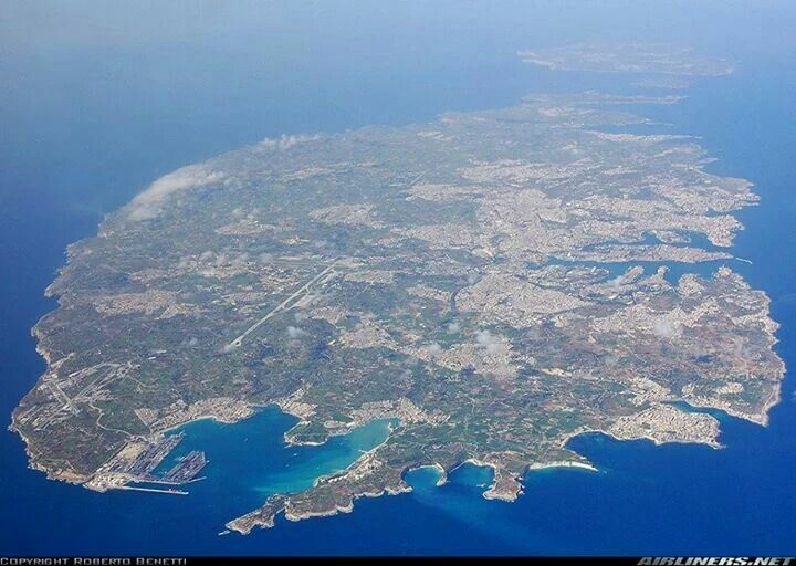 Aerial view of Malta