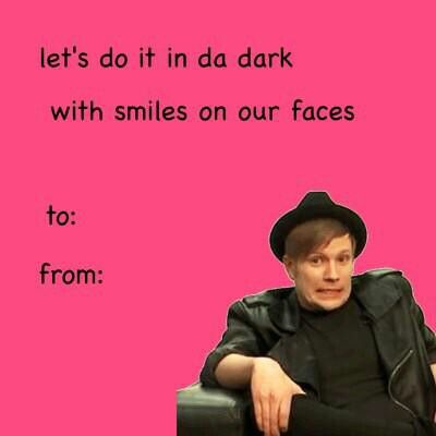 Band Puns, Fall Out Boy, Valentine Cards, Ecards, Postcards, E Cards, Email  Cards, Valentine Day Cards, Greeting Card