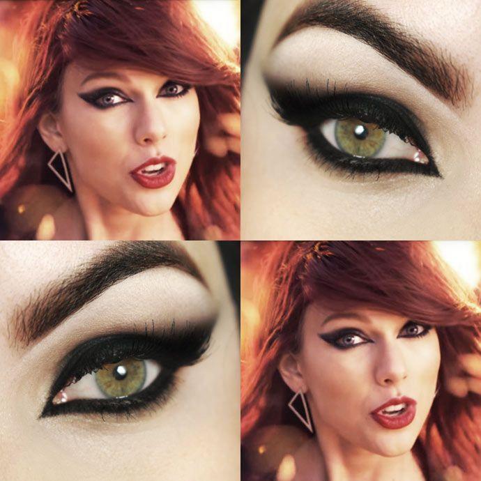 Tutorial – makeup com olho preto felino da Taylor Swift em Bad Blood