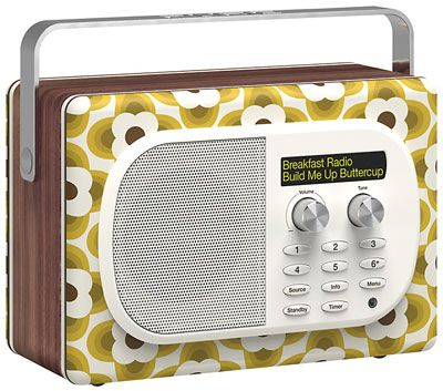 Buttercup Edition of the Pure Evoke Mio digital radio by Orla Kiely