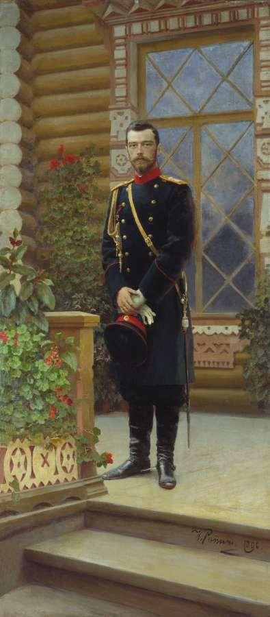 Портрет императора Николая II. 1896 - Репин Илья Ефимович
