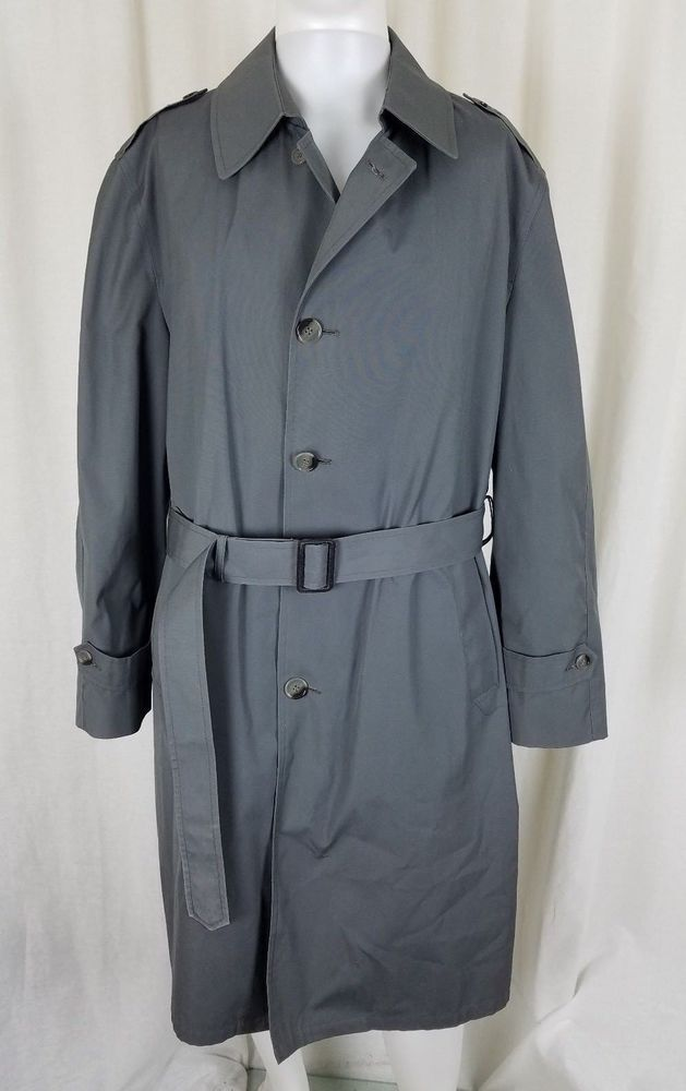 4cc070b6e Botany 500 Insulated Belted Trench Coat Mens 42 Removable Plaid Wool ...