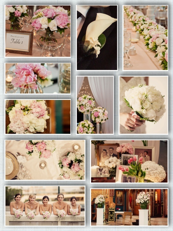 Wedding Flowers. Table centrepieces, buttonhole, bridal bouquet, flower table, church decorations, escort card table