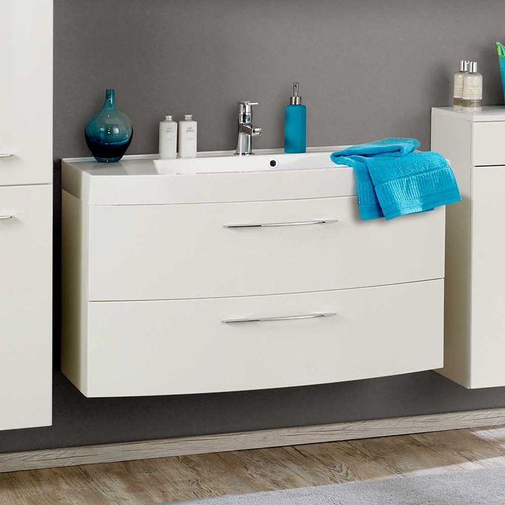 Waschtisch in Hochglanz Weiß 100 cm Jetzt bestellen unter: https://moebel.ladendirekt.de/bad/badmoebel/badmoebel-sets/?uid=1983e778-6871-530e-8787-60467a9a0534&utm_source=pinterest&utm_medium=pin&utm_campaign=boards #waschtischunterbau #waschschrank #bad #badmoebelsets #waschtischkonsole #hängeschrank #waschbeckenunterschrank #badezimmerschrank #badschrank #badmoebel #waschbeckenschrank #waschtischunterschrank #waschtisch #badezimmer #waschkommode