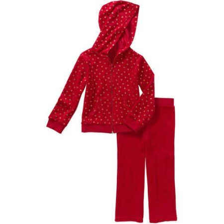 20c21d6b8 Healthtex Baby Toddler Girl Velour Hoodie and Pants Outfit Set