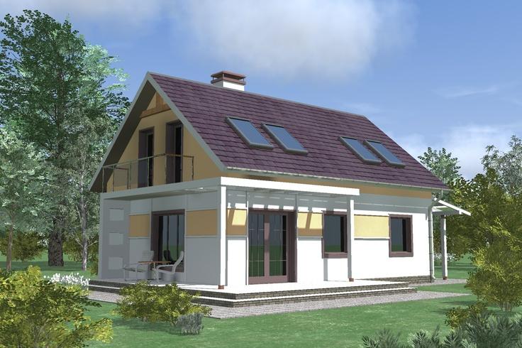 Оптимальный вариант загородного дома при небольшом бюджете на строительство. Интересная планировка и красивый внешний вид.