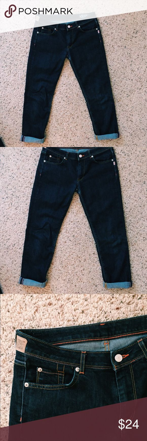 Denim Capris EUC denim capris Jesus jeans. Measurements shown in picture. In excellent condition! Feel free to make an offer! Jesus Jeans Ankle & Cropped