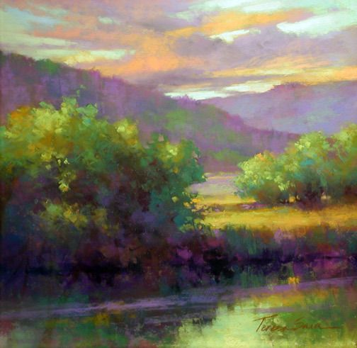 "Late Summer Colors by Teresa Saia Pastel ~ 18"" x 18"""