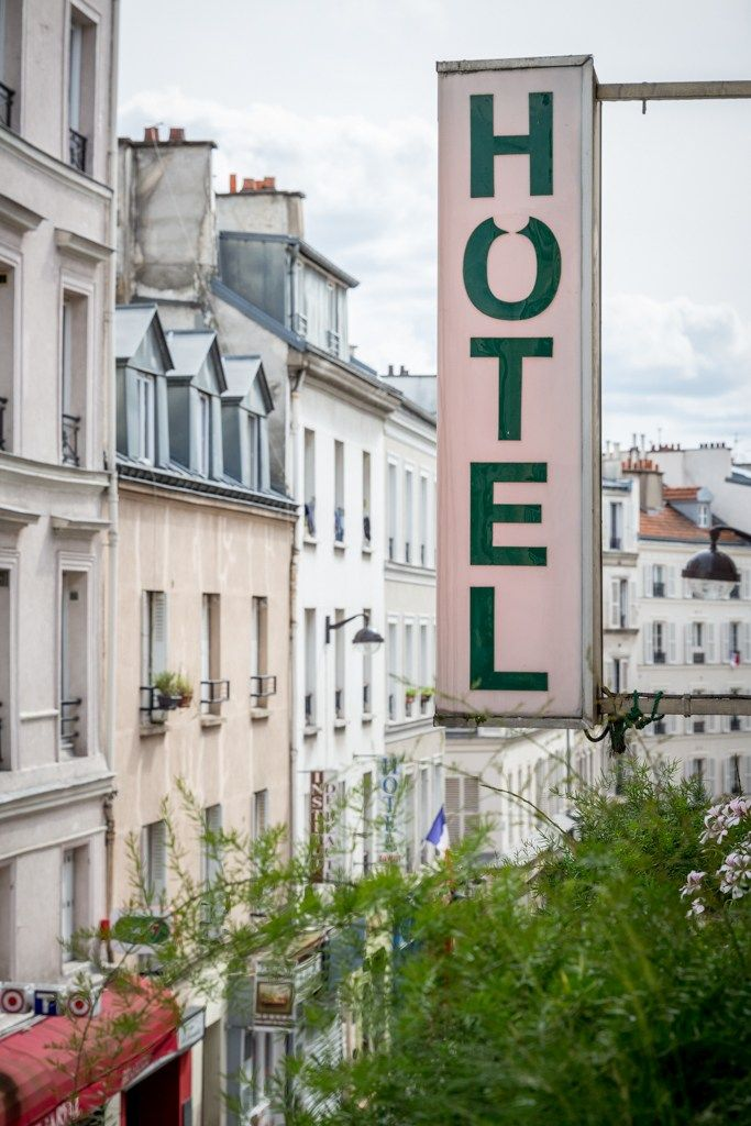 View from Hotel Eldorado in the 17th Arrondissement, Paris