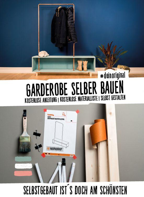 Garderobe Merle selber bauen – Aufbewahrung