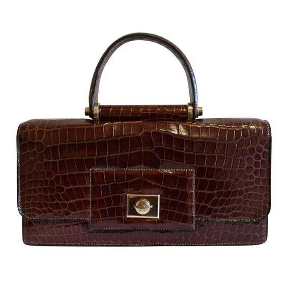 Hermès Crocodile  Handbag Vintage