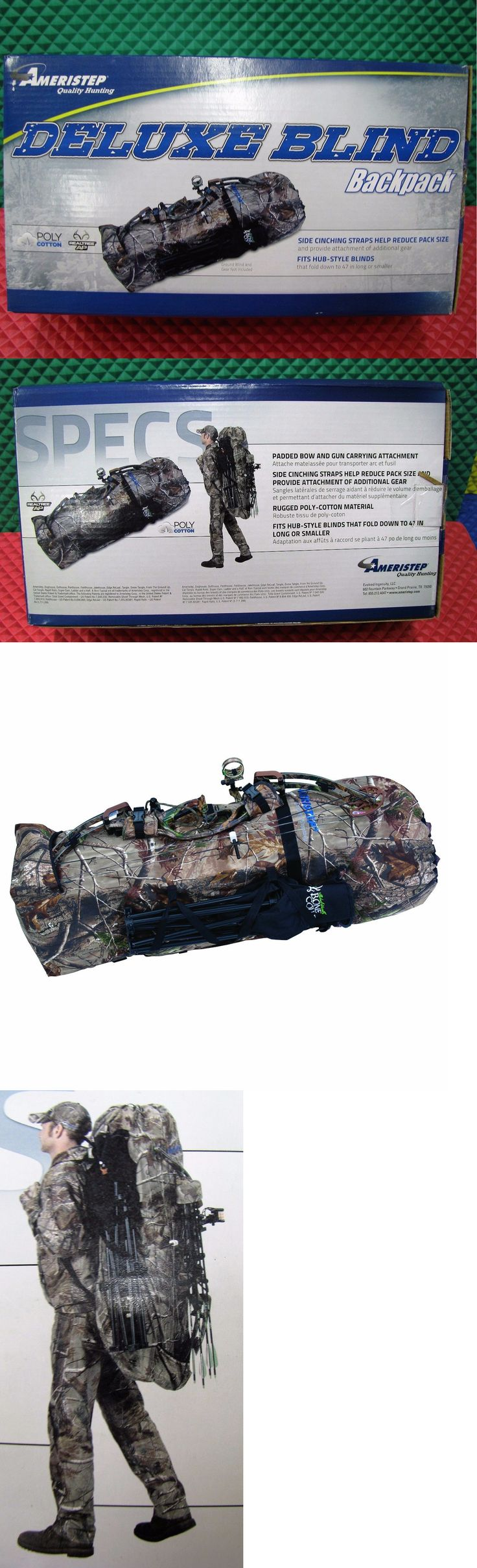 Camouflage Materials 177911: Ameristep Deluxe Blind Backpack Model No. 708 -> BUY IT NOW ONLY: $39.95 on eBay!