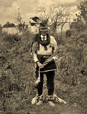 Ojibwa elder dressed in regalia