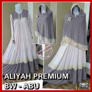 Baju Gamis Muslim Bergo aliyah Syar'i P128