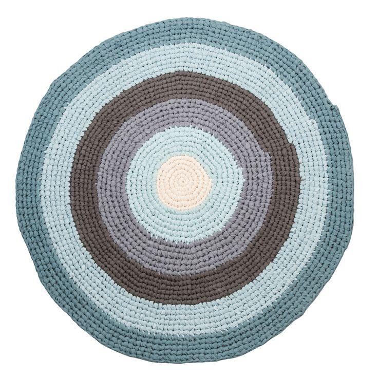 Sebra – vloerkleed katoen rond pastel blue