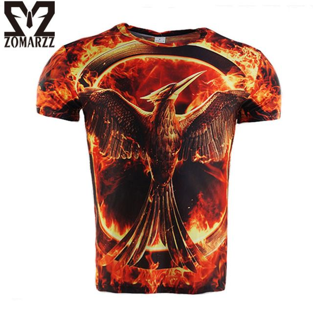 We love it and we know you also love it as well The Hunger Games Mockingjay T-shirt Mens 3D Printed Shirt Short Sleeve O Neck Casual Tee Male Compression Tops S-4XL just only $11.99 with free shipping worldwide  #tshirtsformen Plese click on picture to see our special price for you