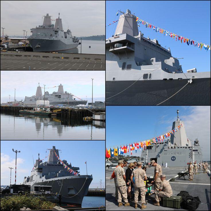 USS Somerset (LPD 25) at Pier 90 in Seattle during Seafair Fleet Week 2016