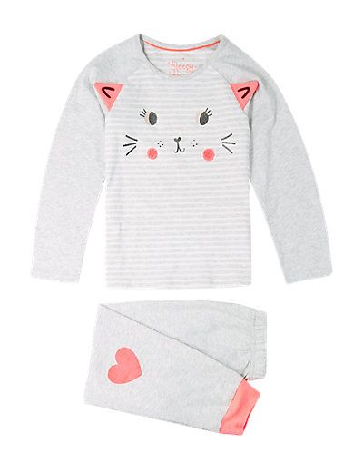 Pure Cotton Mouse Face Stay Soft Pyjamas (1-8 Years) | M&S - GBP 10 - 12